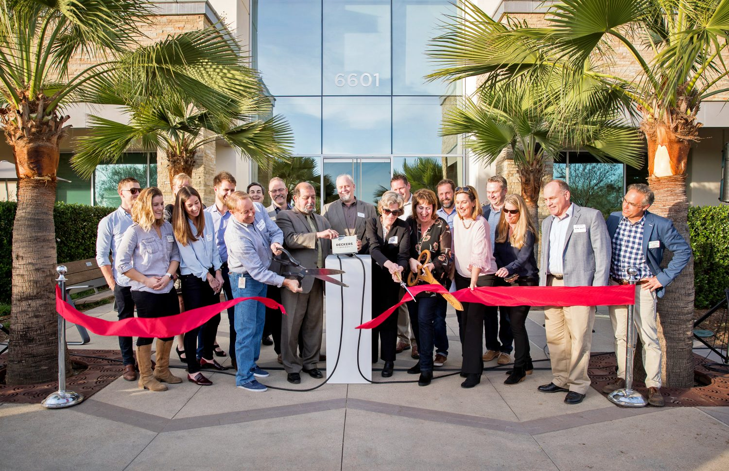 70bf038ce The Goleta and Santa Barbara business community gathered in January to  celebrate Deckers Brands headquarters in Goleta switching on one of the  area s ...